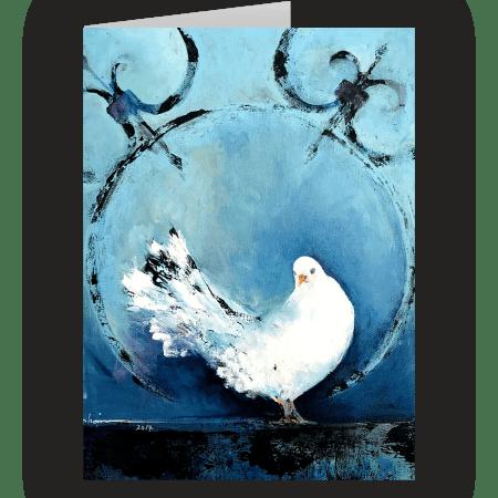 Dove. A fine art card by Fatemeh Farahani