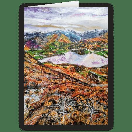 A Light Dustin Of Snow. A fine art open card by Pat Richardson
