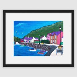 Lower Fishguard Harbour ll , a framed fine art print by Lynartwales